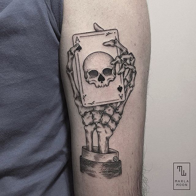 12-Ace-of-Spades-Skull-Marla-Moon-Geometric-Shapes-with-Tattoo-Drawings-www-designstack-co