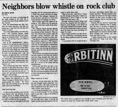 The Orbit Inn rock club... Cresskill, New Jersey