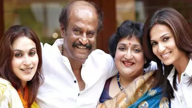 Rajinikanth daughters with wife family