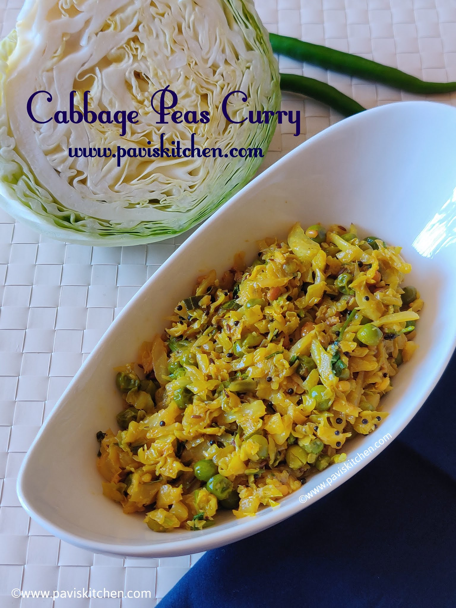 Patta gobhi matar recipe | band gobi matar recipe | Cabbage green peas sabzi Punjabi recipe