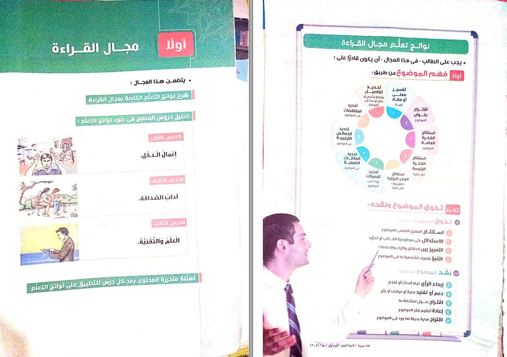 كتاب الامتحان لغة عربية للصف الثانى الثانوى ترم اول 2021 منهج جديد