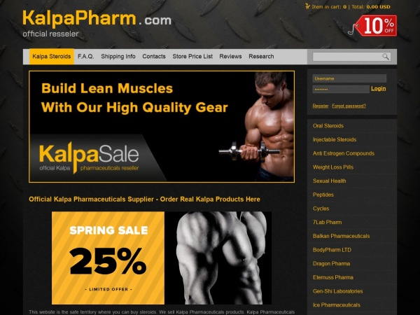 KalpaPharm com Review: Renowned Online Steroid Store - World