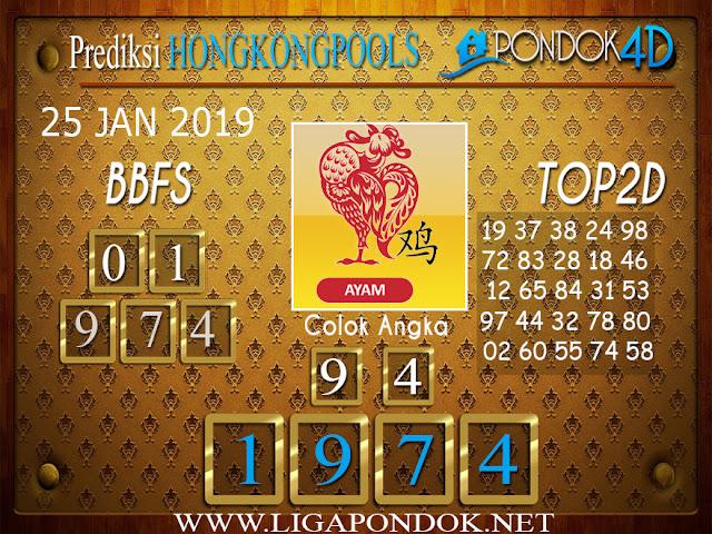 Prediksi Togel HONGKONG PONDOK4D 25 JANUARI 2019