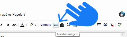 Upload image in blogger