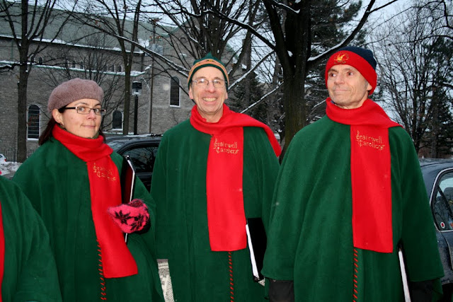 Stairwell Carollers ready for... carolling!
