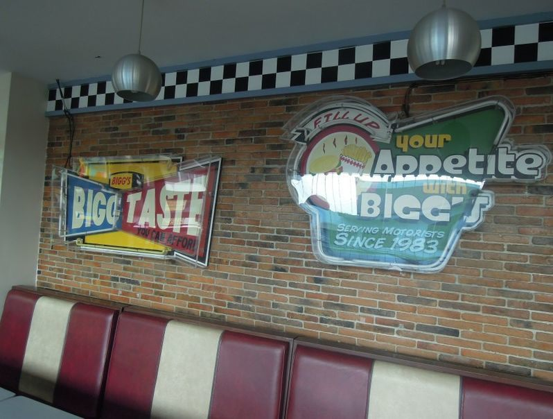 Retro seats at Bigg's Diner in Legazpi City, Albay