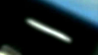 Long Cigar UFO Right Next To The ISS