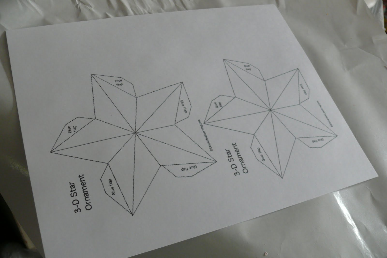 шаблон объемной звезды для открытки
