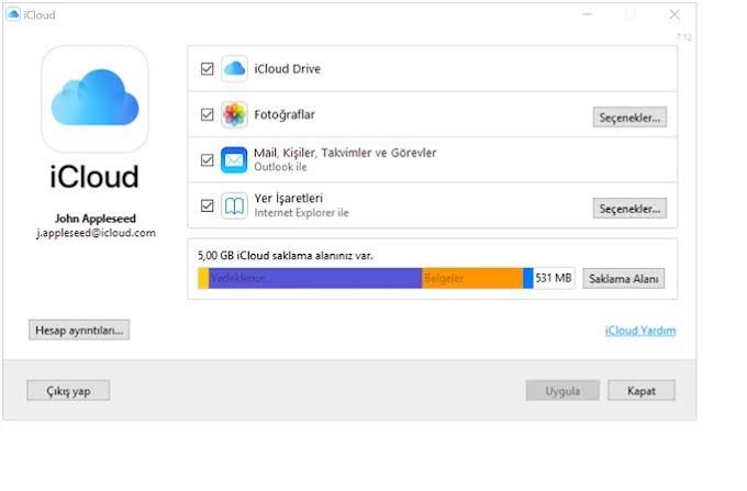 Windows için iCloud
