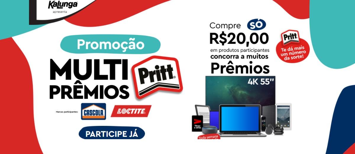 Participar Promoção Multi Prêmios Pritt, Loctite Super Bonder e Cascola - Cadastrar Kalunga