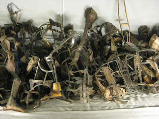 Leg braces and prosthetics of the victims of Auschwitz