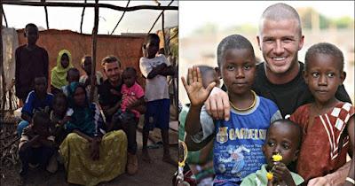 INSPIRATIF, 10 Foto mengharukan David Beckham bersama anak-anak Afrika,
