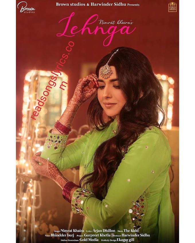 Lyrics of lehnga song by nimrat khaira