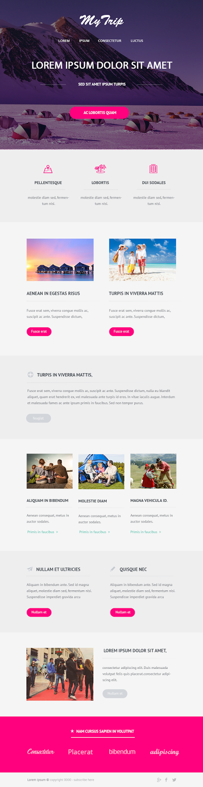 MyTrip Website UI Design Templates