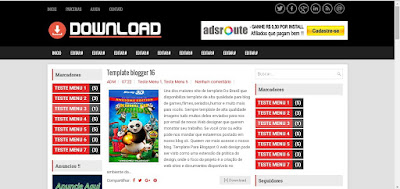 Template Blogger 3 colunas Download gratis