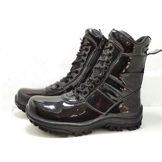 Sepatu PDL Hitam Mengkilap