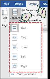 Cara 1 Cara Memformat Teks yang dipilih Menjadi Kolom