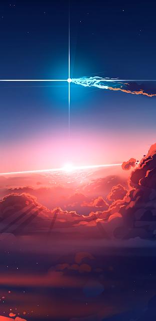 Giữa bầu trời hoàng hôn