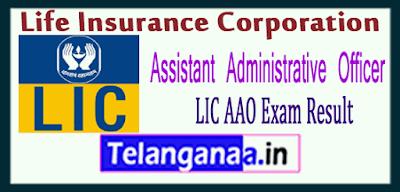 LIC Life Insurance Corporation AAO Result