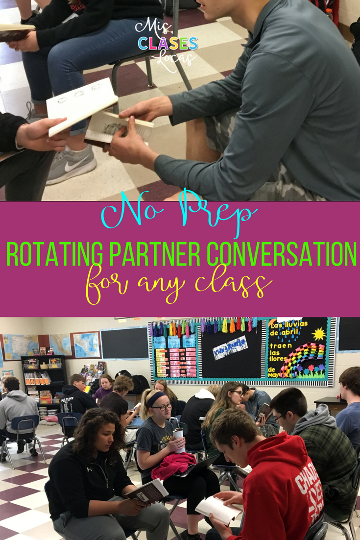 Quick Tip: Rotating Partner Conversations - a no prep way to get your students speaking Spanish