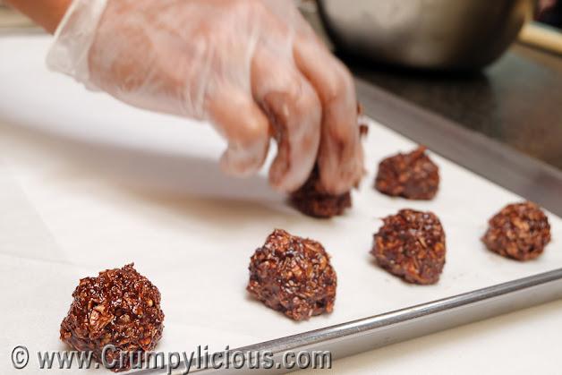 choco peanut butter oatmeal balls