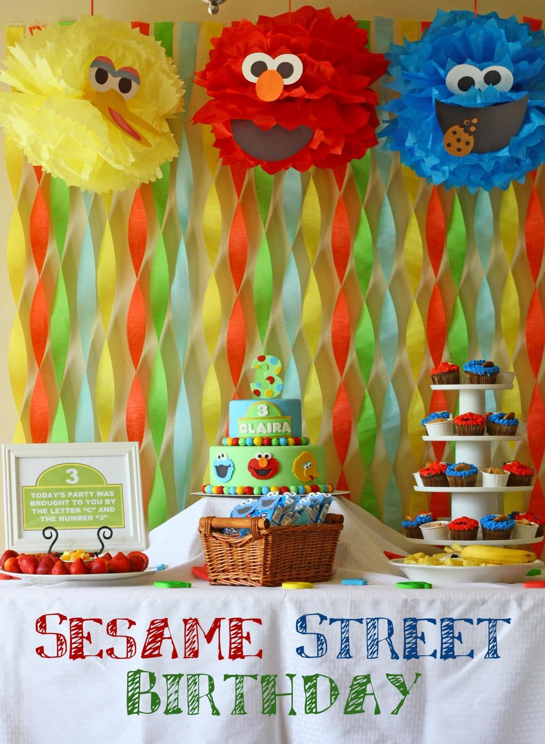 Patty Cakes Bakery Sesame Street Birthday Party Jpg 1080x1476 Baby Elmo Decorations