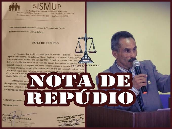 SISMUP REPUDIA AMEAÇA DE ZÉ JULIO