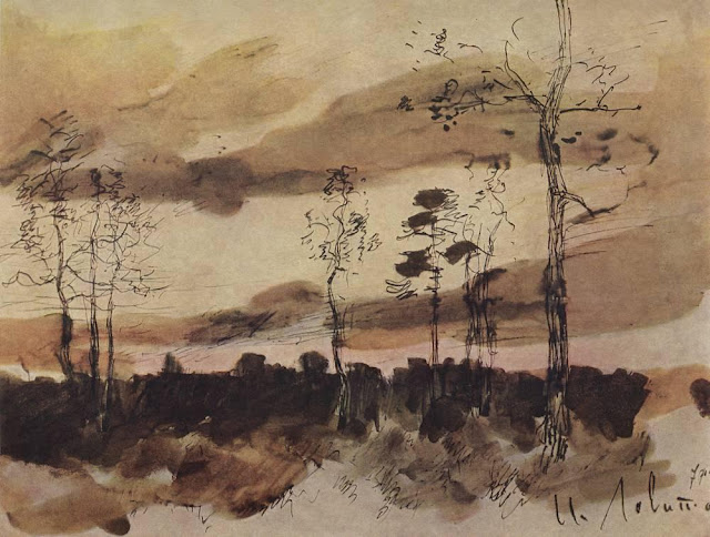Исаак Ильич Левитан - Закат. Опушка леса. 1900