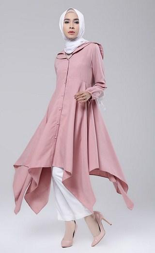 Permalink to Contoh Model Baju Muslim Atasan Modern Wanita Terbaru 2017