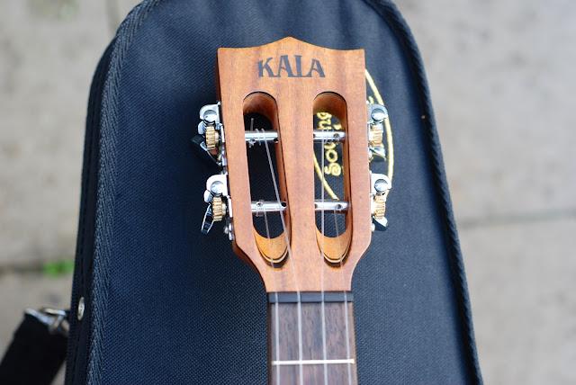 Kala All Solid Acacia Tenor ukulele slotted headstock