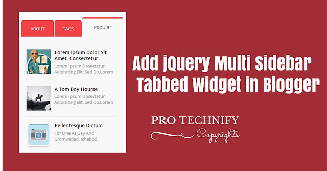 jQuery sidebar tabbed widget for blogger