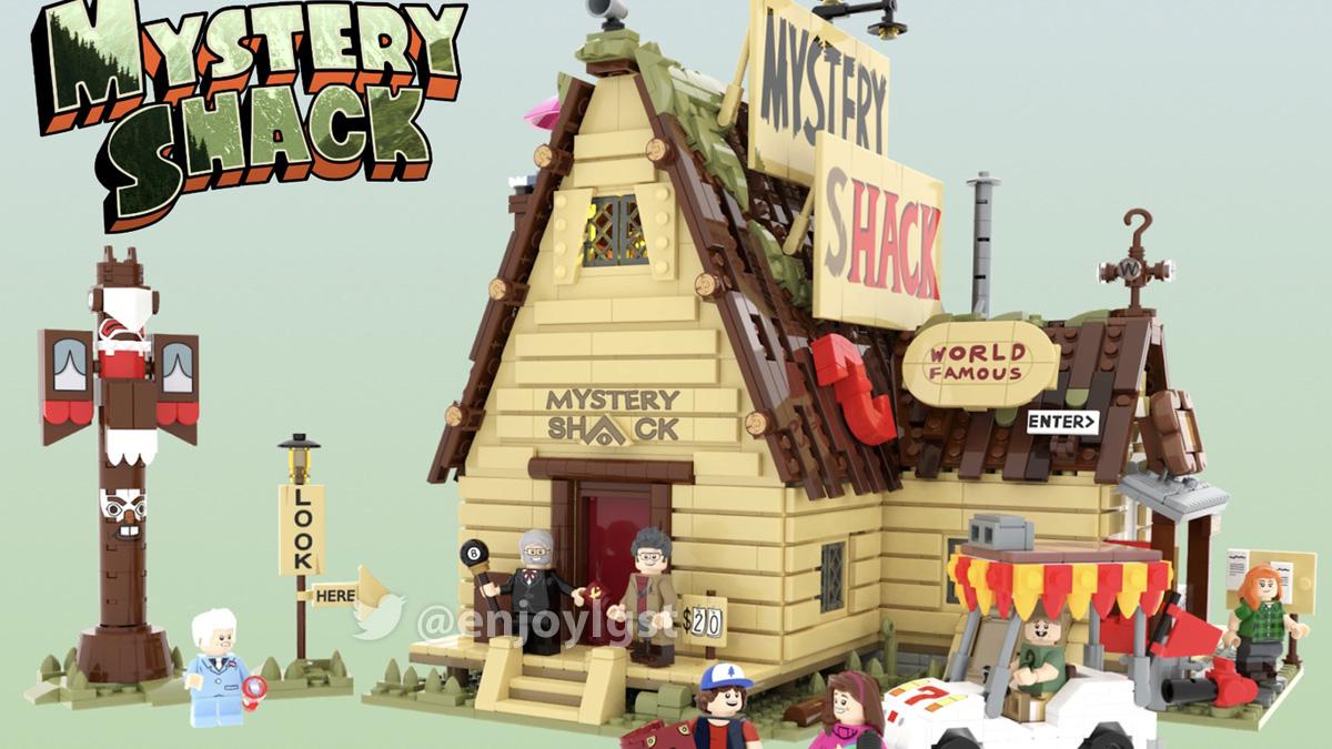 レゴアイデアで『怪奇ゾーン グラビティフォールズ・ミステリーハウス』が製品化レビュー進出!2020年第3回1万サポート獲得デザイン紹介