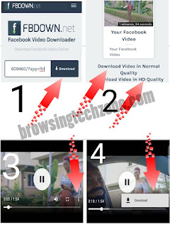 Steps to download Facebook video