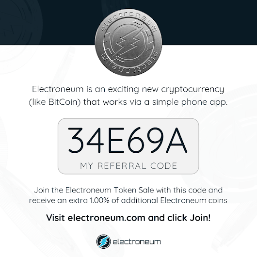 ELECTRONEUM COIN (ETN) like BITCOIN ICO OPEN~DON'T MISS THIS OPPORTUNITIES I CLICK HERE TO KNOW MORE