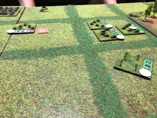Soviet tanks attack the German defenders