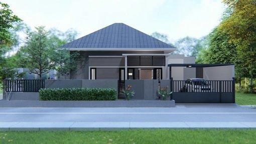 A Desain Rumah 1 Lantai 16x11m Kode 238b
