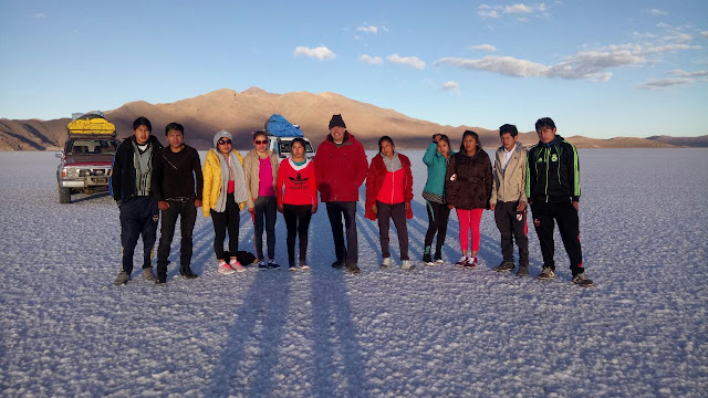 Im Moment ist es sehr kalt in den Bergen Boliviens