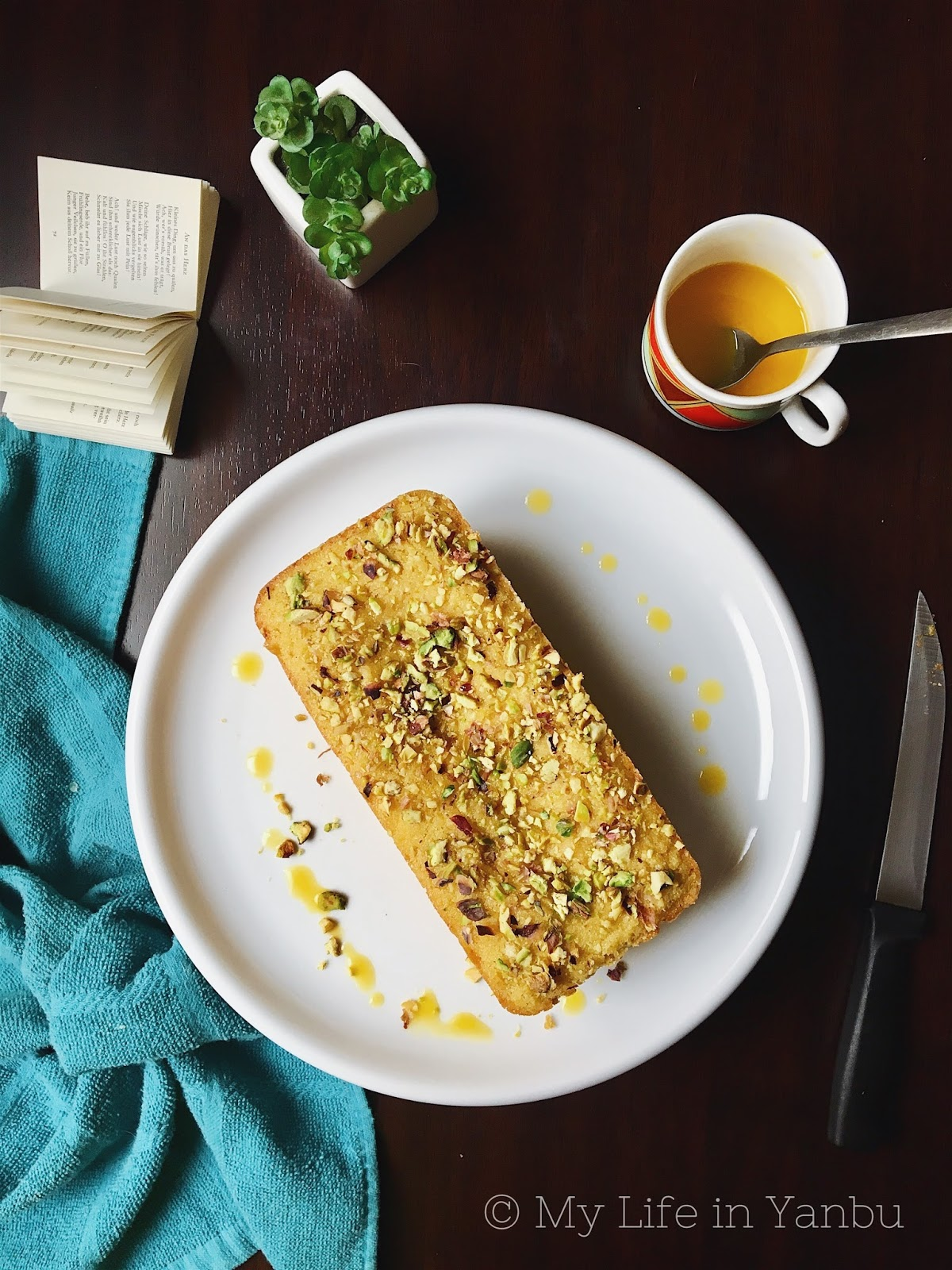 Mango Semolina Eggless Cake