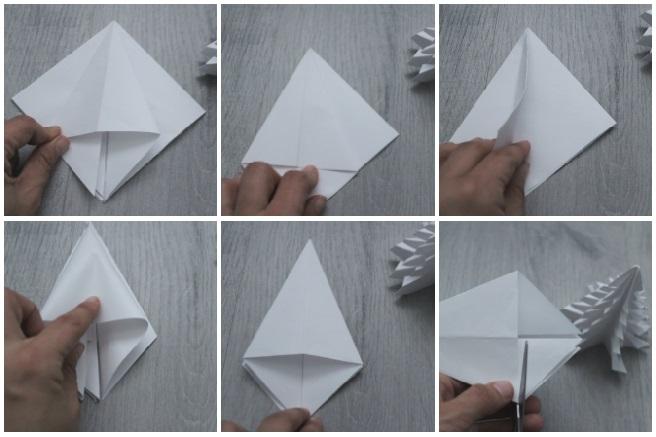 Papiroflexia - crea tu árbol de Navidad - blog de manualidades