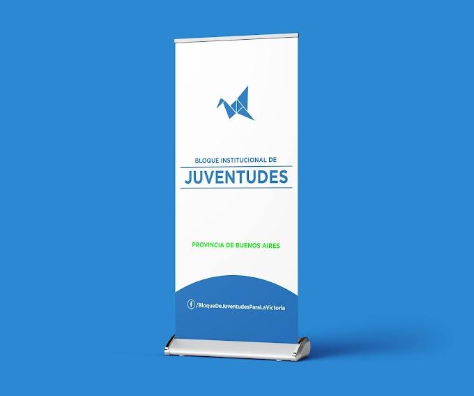 """Banner de pie para el """"Bloque Institucional de Juventudes para la Victoria"""""""