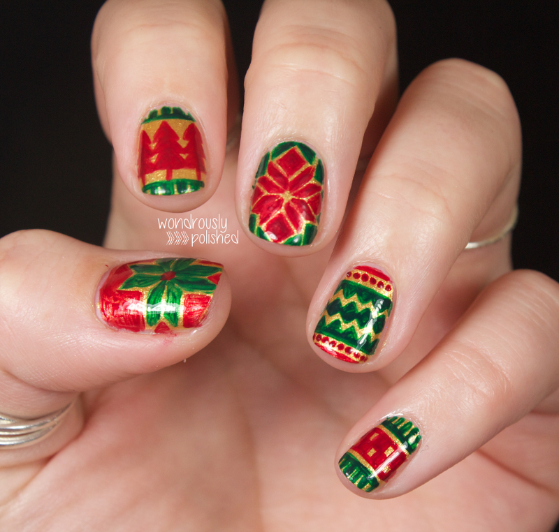 Christmas Nails Green And Red: Wondrously Polished: The Digital Dozen Does Red, Green