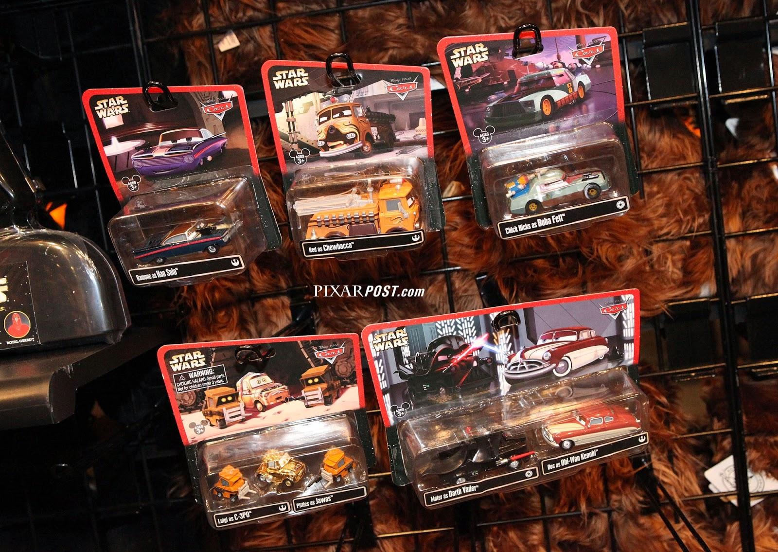 Disney Pixar Cars Star Wars Mater as Darth Vader /& Doc as Obi-Wan Kenobi Toy Car
