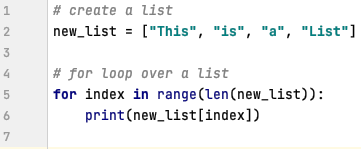 For loops in Python - List & Range