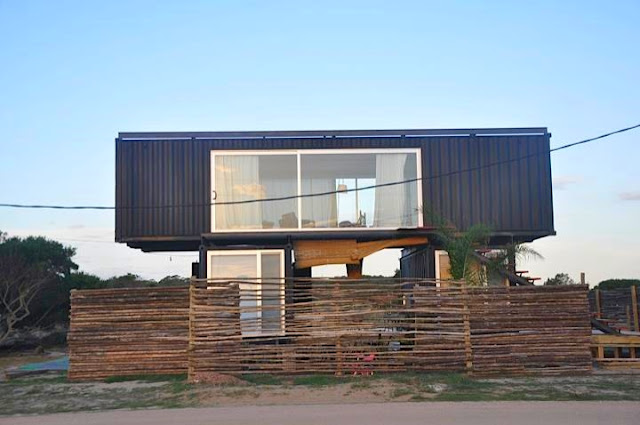2x40 ft and 2x20 ft Shipping Container Home by Project Container, Uruguay 5