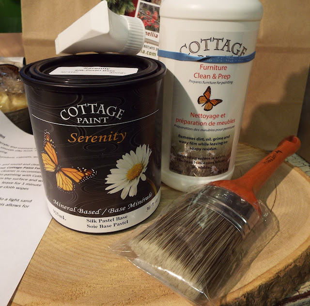 Serenity Cottage Paint cans, The Camellia