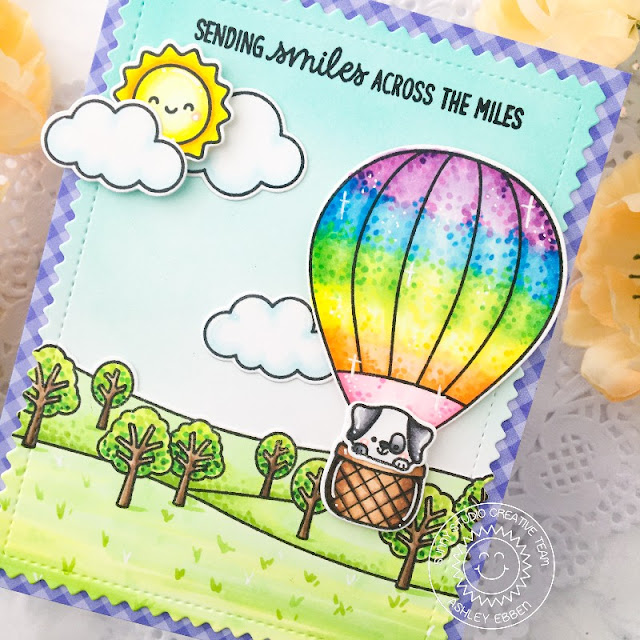 Sunny Studio Stamps: Country Scenes Balloon Rides Everyday Card by Ashley Ebben