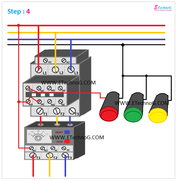 ON, OFF, TRIP Indication Lamp Wiring Connection 4
