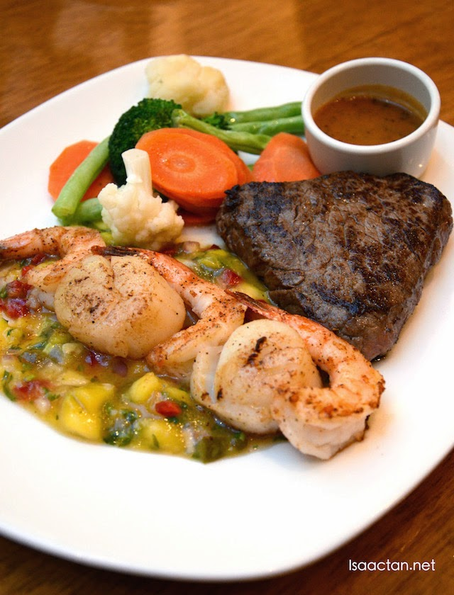 Steak and seafood mixed grill - RM59.95