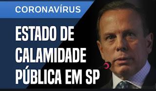 Doria anuncia estado de calamidade pública em SP
