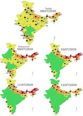 INTENSE RAINFALL SPELL OVER NORTHERN PARTS OF INDIA DURING 9TH TO 12TH JULY, 2020